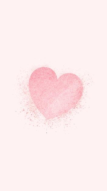Bandeira de coração rosa Vetor grátis