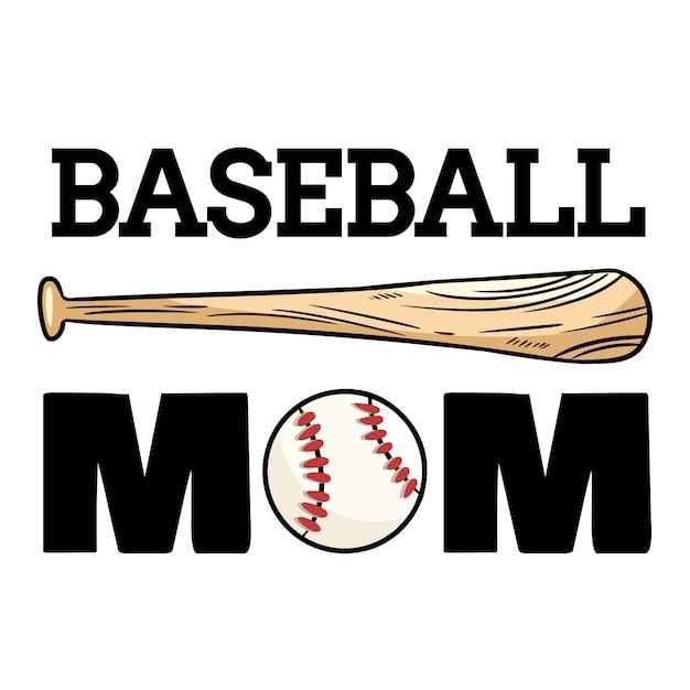 Bandeira de esporte de mãe de beisebol. Vetor Premium