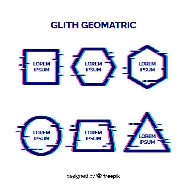 Bandeira de forma geométrica de falha Vetor grátis