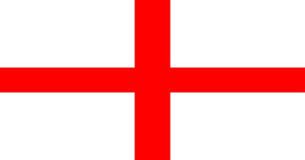 Bandeira de ilustração da inglaterra Vetor grátis