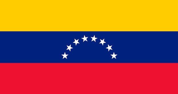 Bandeira de ilustração da venezuela Vetor grátis