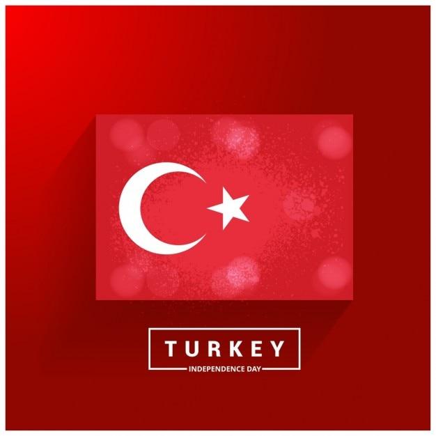 Bandeira de incandescência país dia da independência turquia Vetor grátis
