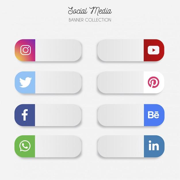 Bandeira de mídia social moderna Vetor grátis