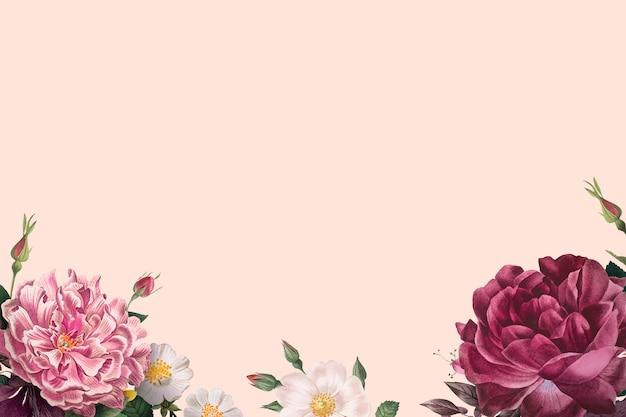 Bandeira de rosas desabrochando Vetor grátis