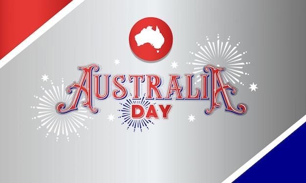 Bandeira de tipografia de dia de austrália Vetor Premium
