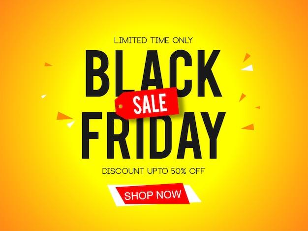 Bandeira de venda sexta-feira negra Vetor Premium