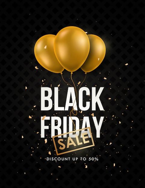 Bandeira de venda sexta-feira negra. Vetor Premium