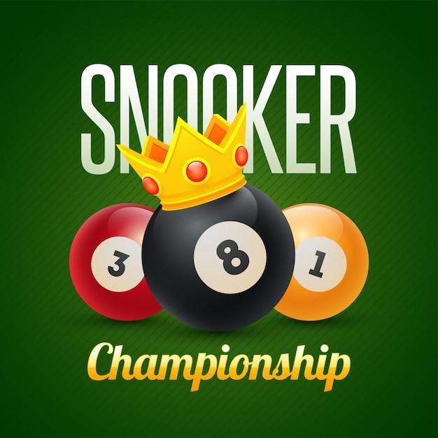 Bandeira do campeonato de snooker. Vetor Premium