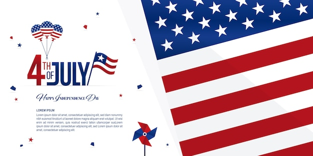 Bandeira do dia da independência Vetor Premium