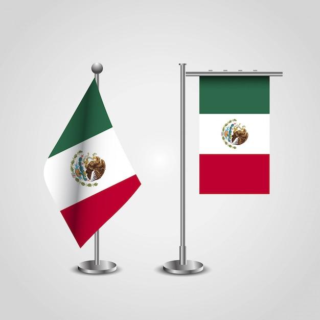 Bandeira do méxico com vetor de design criativo Vetor grátis
