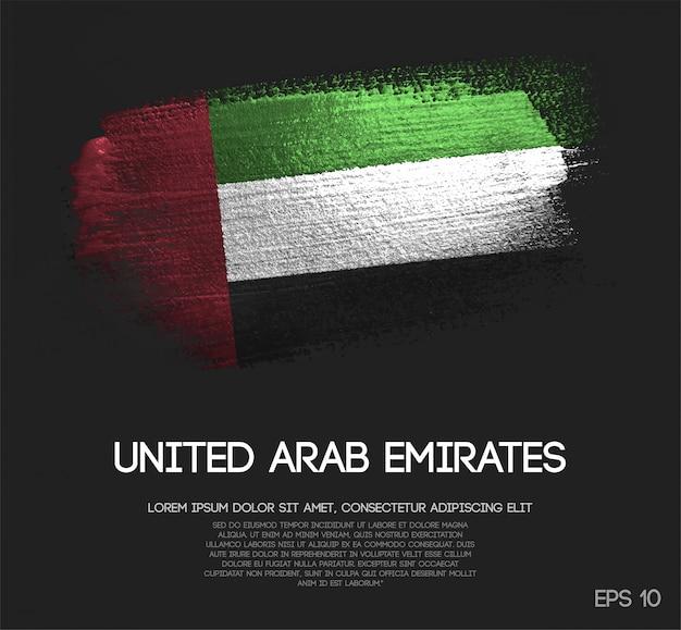 Bandeira dos emirados árabes unidos Vetor Premium