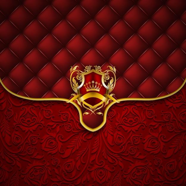 Bandeira elegante moldura dourada Vetor Premium