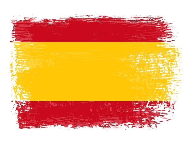 Bandeira espanhola do grunge Vetor Premium