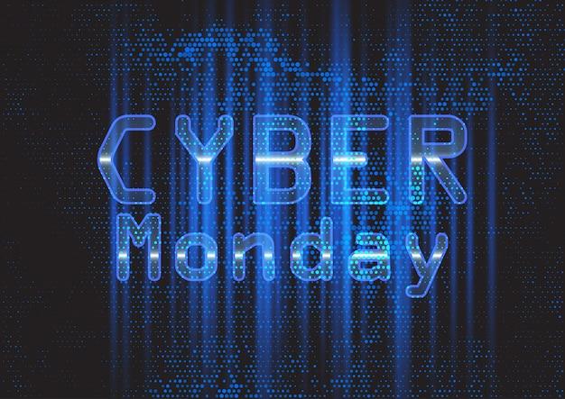 Bandeira moderna de cyber segunda-feira de techno Vetor Premium