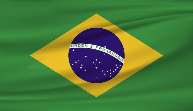 Bandeira nacional do brasil Vetor Premium