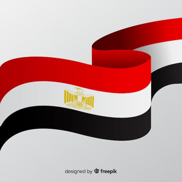 Bandeira nacional do egito Vetor grátis