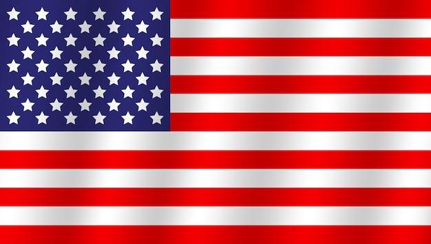 Bandeira original e simples do estado unido de américa. Vetor Premium
