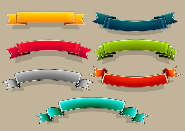 Bandeiras coloridas Vetor Premium