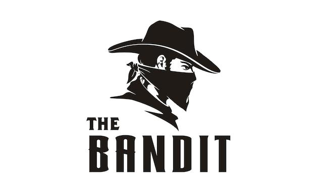 Bandit cowboy ilustração Vetor Premium