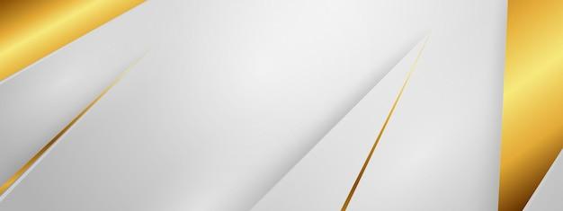 Banner 3d abstrato Vetor Premium