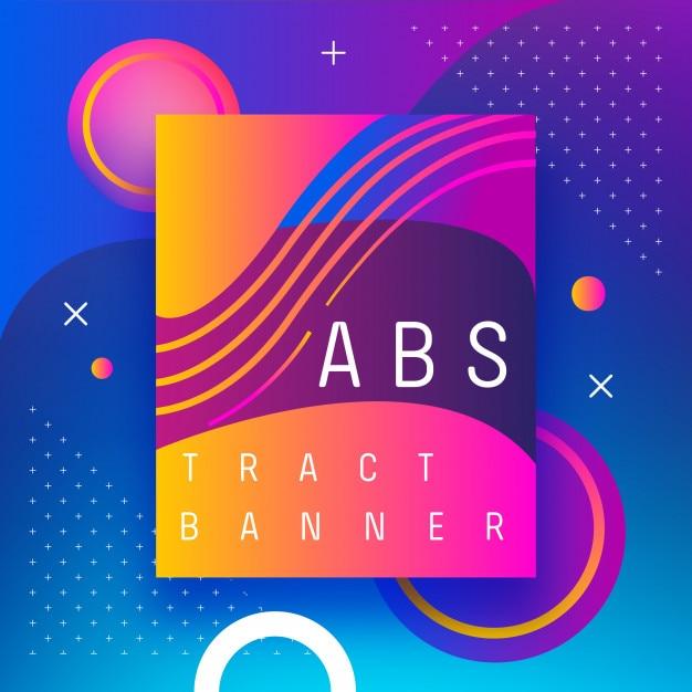 Banner abstrato de plano de fundo Vetor Premium