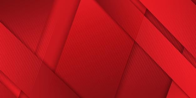 Banner abstrato design em tons de vermelho Vetor grátis