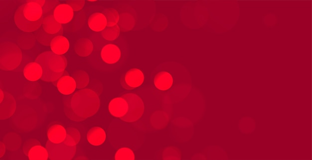 Banner abstrato vermelho bokeh com espaço de texto Vetor grátis