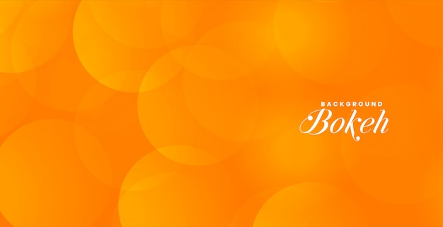 Banner atraente bokeh laranja com espaço de texto Vetor grátis