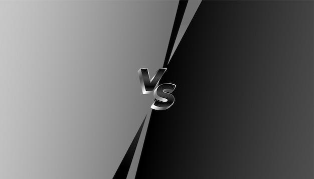 Banner cinza e preto versus vs challenge Vetor grátis