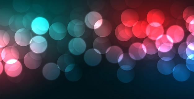 Banner colorido vibrante bokeh com efeito de luz Vetor grátis