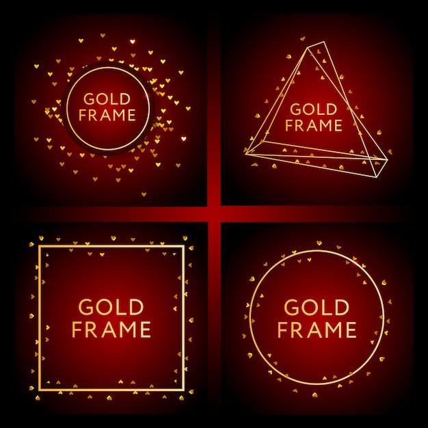 Banner com uma arte de vetor de moda design ouro Vetor Premium