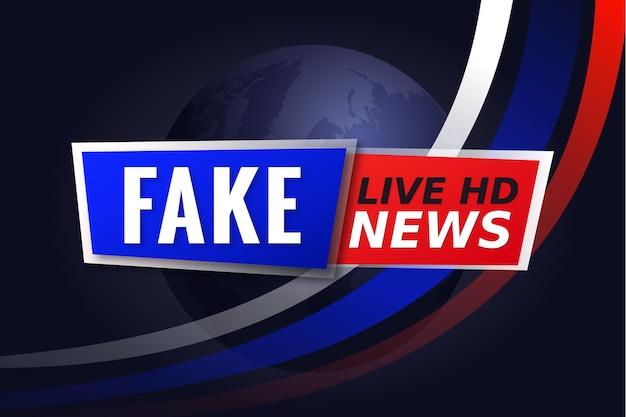Banner criativo de notícias falsas para televisão ao vivo Vetor grátis