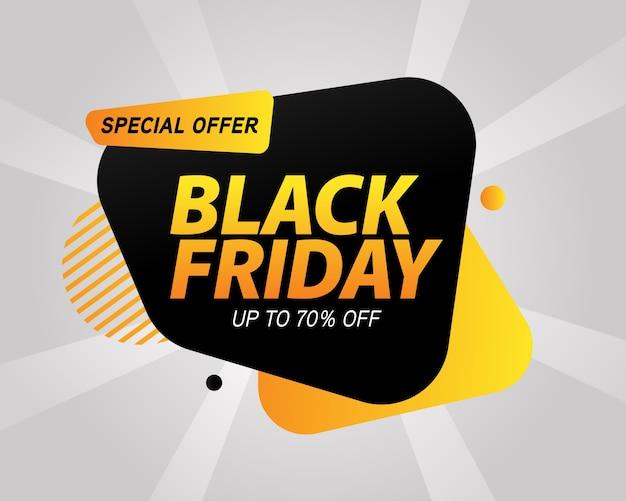 Banner da black friday Vetor Premium