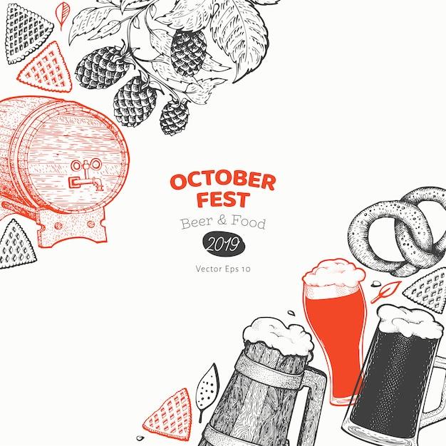 Banner da octoberfest Vetor Premium