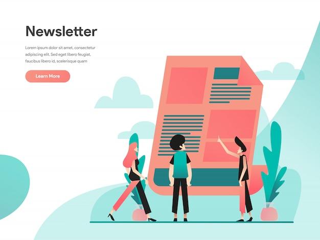 Banner da web de boletim informativo Vetor Premium