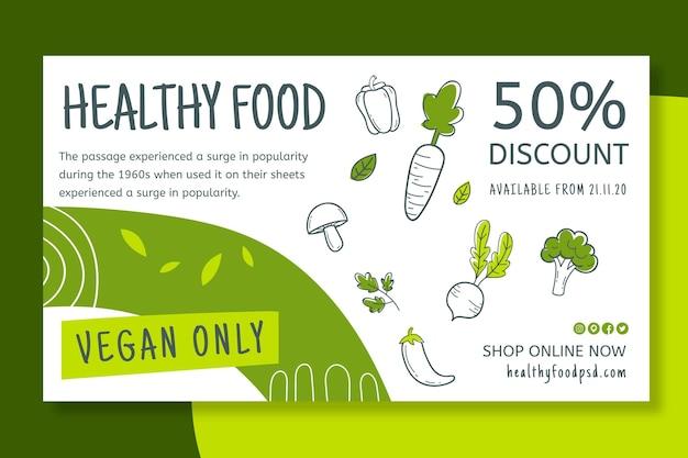Banner de alimentos bio e saudáveis Vetor grátis