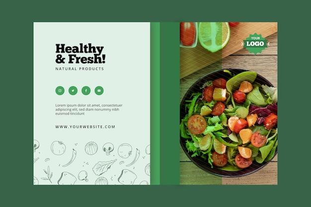 Banner de alimentos bio e saudáveis Vetor Premium