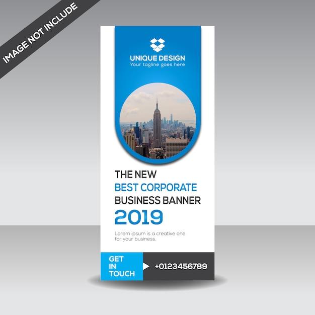 Banner de apresentação corporativa Vetor Premium