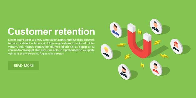 Banner de atração do cliente Vetor Premium