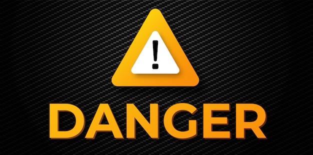 Banner de aviso de perigo Vetor Premium