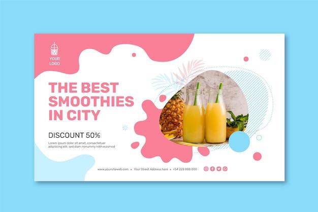 Banner de barra de smoothies Vetor grátis