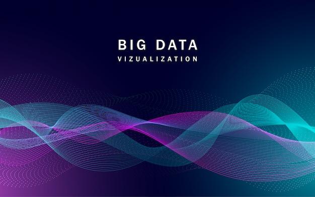 Banner de big data de visualização Vetor Premium