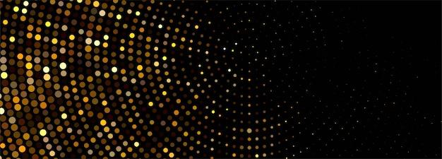 Banner de brilhos dourados brilhantes de luxo Vetor grátis