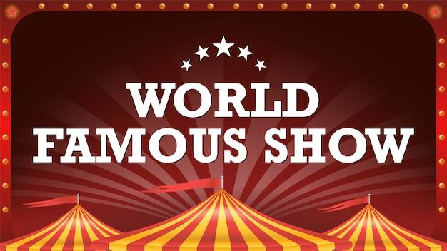 Banner de cartaz de circo. Vetor Premium