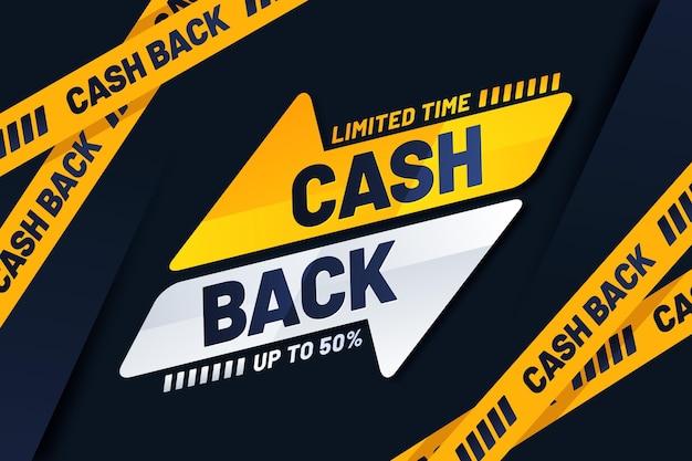 Banner de cashback com oferta especial Vetor grátis
