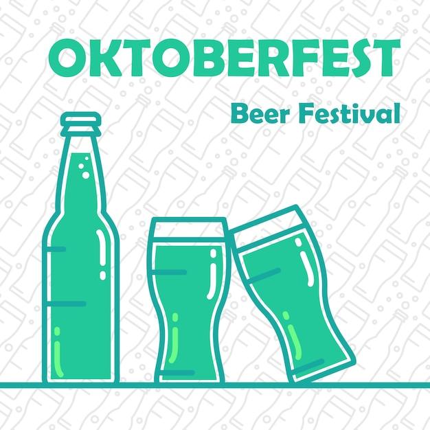 Banner de cerveja da oktoberfest Vetor Premium
