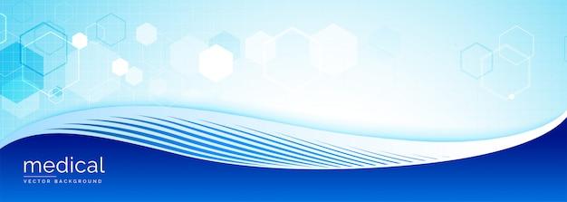 Banner de ciência médica com espaço de texto Vetor grátis