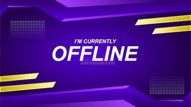 Banner de contração offline no estilo gamer Vetor Premium