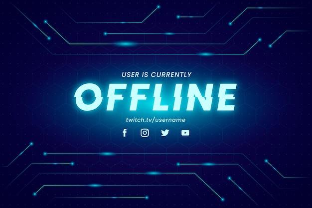 Banner de contração offline no estilo gammer Vetor Premium