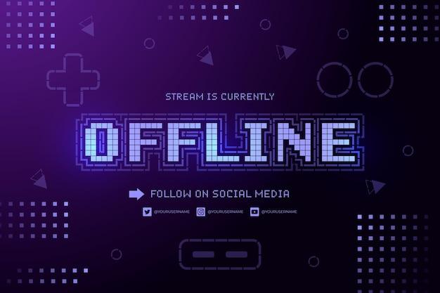 Banner de contração offline Vetor Premium